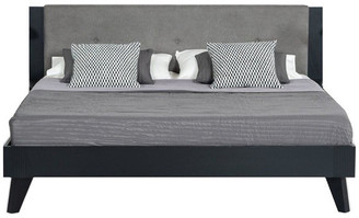 VIG Furniture Nova Domus Panther Contemporary Gray and Black Bed, Eastern King