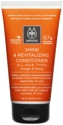 Apivita Holistic Hair Care Shine & Revitalising Conditioner for All Hair Types - Orange & Honey 150ml