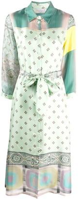 Pierre Louis Mascia Mixed Print Shirt Dress