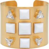 Helene Zubeldia Metal Glass Stone cuff