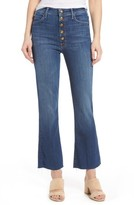 Mother Women's Hustler Snap Down High Rise Ankle Flare Jeans
