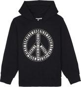 Moschino Logo cotton hoody 4-14 years