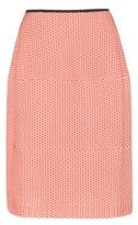 Jil Sander Navy Jacquard Skirt