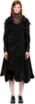 Issey Miyake Black Auroras 2 Wavy Coat
