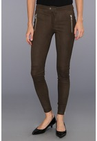 Rebecca Taylor Leather Moto Pant (Olive) - Apparel