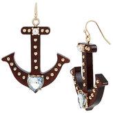Betsey Johnson Anchors Away Anchor Drop Earrings