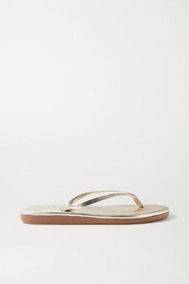 Ancient Greek Sandals Saionara Metallic Leather Flip Flops - Gold