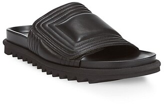 Dries Van Noten Trek-Sole Leather Slides