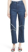 Rachel Comey Women's Ticklers Frayed High Waist Crop Jeans