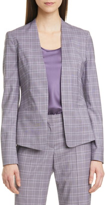 HUGO BOSS Jalestana Plaid Suit Jacket
