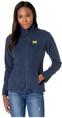 Columbia College Michigan Wolverines CLG Give and Gotm II Full Zip Fleece Jacket (Collegiate Navy) Women's Fleece