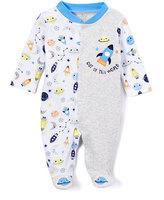 Baby Starters Gray Space World Sleepnplay Footie - Infant