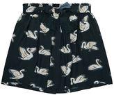 Stella McCartney Myrtle Swan Print Belted Skirt