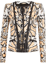 Roberto Cavalli Leopard-Print Stretch-Cotton Jacket