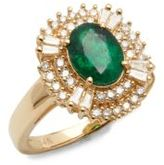 Effy Diamonds, Emerald & 14K Yellow Gold Ring