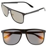 Carrera Men's Eyewear 58Mm Mirrored Retro Sunglasses - Black/ Copper