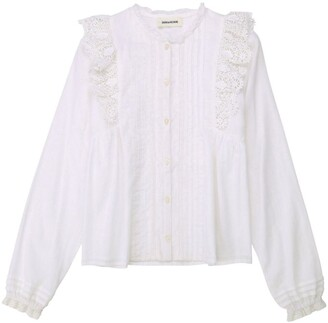Zadig & Voltaire Lace Ruffle Blouse (6-16 Years)