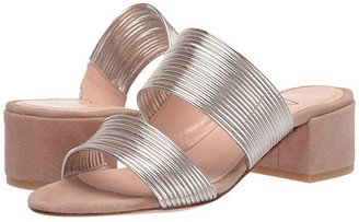 AGL Double Band Strappy Sandal (Tan & Gold) Women's Shoes
