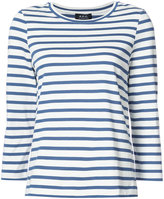 A.P.C. three-quarters sleeve striped T-shirt - women - Cotton - 34