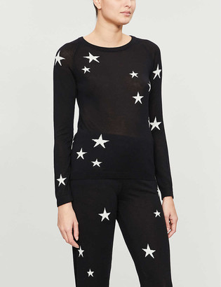Chinti and Parker Star-intarsia cashmere jumper