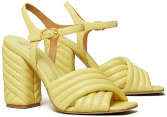 Tory Burch Kira Quilted High-Heel Sandal