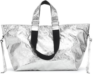 Isabel Marant Wardy metallic leather tote