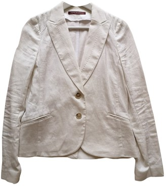 Comptoir des Cotonniers White Linen Jacket for Women