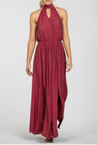 En Creme encreme Maroon Maxi Dress