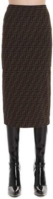 Fendi FF Midi Pencil Skirt