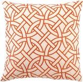 D.L. Rhein Orange Circle Link Pillow
