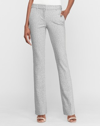 Express Mid Rise Printed Barely Boot Columnist Pant