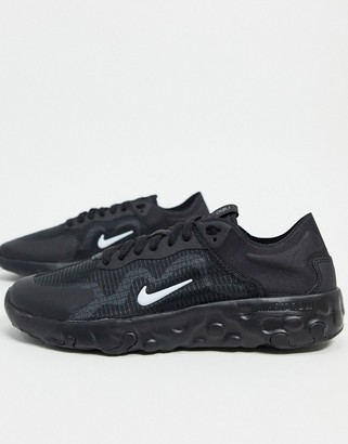 Nike Renew Lucent trainers in black white & gunsmoke