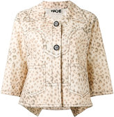 Hache leopard print jacket - women - Cotton - 40