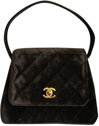 Chanel Brown Velvet Handbags