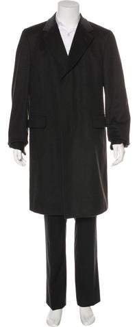 Gucci Velvet-Trimmed Wool Overcoat w/ Tags