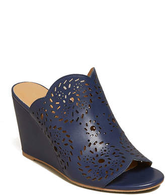 Jack Rogers Ronnie Leather Wedge Slide Sandals