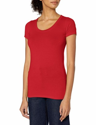 Marky G Apparel Women's Spandex Short-Sleeve Scoop Neck T-Shirt