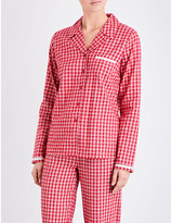 Calvin Klein Check-print cotton-flannel pyjama top