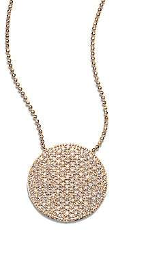 Phillips House Women's 14K Rose Gold & Diamond Pavé Large Infinity Disc Necklace