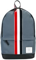 Thom Browne Backpack With Red, White And Blue Leather Stripe In Mackintosh