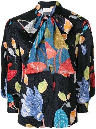Peter Pilotto Floral Pussybow Blouse