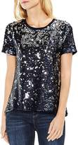 Vince Camuto Metallic Sequin Top