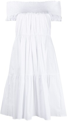 Patrizia Pepe Ruched Band Off-Shoulder Dress