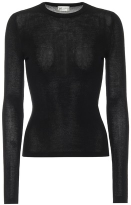Saint Laurent Ribbed-knit sweater