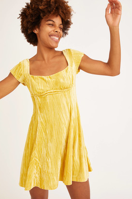 Urban Outfitters Uma Velvet Cap Sleeve Mini Dress