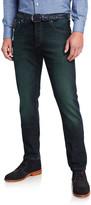 Isaia Men's Charcoal-Wash Denim 5-Pocket Pants