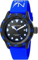 Nautica Men's NAD10080G Silicone Quartz Watch