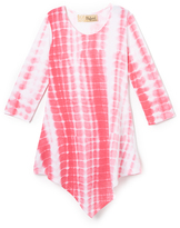 Hybrid Fuchsia & White Tie-Dye Handkerchief Tunic - Toddler & Girls