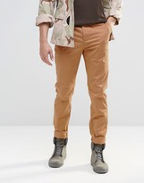 Asos Slim Chinos In Beige