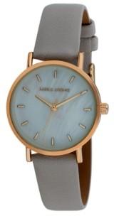 Laura Ashley Women's Slim Clean Gray Polyurethane Strap Watch 34mm